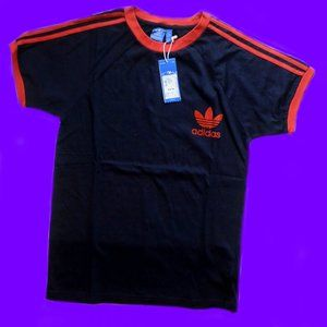 brand new! adidas 3 stripe tee